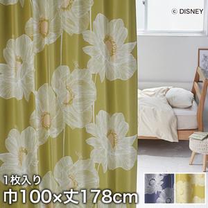 ディズニーファン必見!スミノエ Disney 既製カーテン MICKEY/ Okii anemone(オオキイアネモネ) 巾100×丈178cm