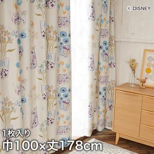 ディズニーファン必見!スミノエ Disney 既製カーテン MICKEY/ Flower vase Mickey with Donald(フラワーベースウィズDN) 巾100×丈178cm