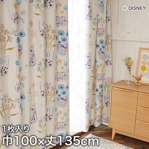 ディズニーファン必見!スミノエ Disney 既製カーテン MICKEY/ Flower vase Mickey with Donald(フラワーベースウィズDN) 巾100×丈135cm