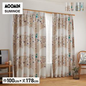 カーテン 既製サイズ スミノエ MOOMIN ソフトメロディー 巾100×丈178cm 1枚入