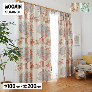 カーテン 既製サイズ スミノエ MOOMIN キャリッジ 巾100×丈200cm 1枚入