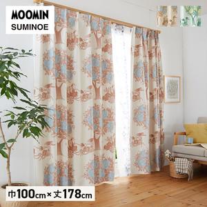 カーテン 既製サイズ スミノエ MOOMIN キャリッジ 巾100×丈178cm 1枚入
