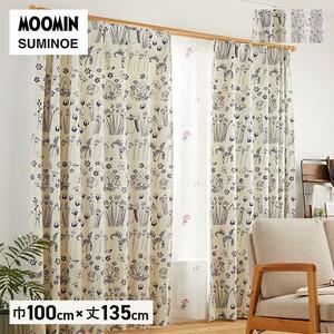 カーテン 既製サイズ スミノエ MOOMIN ハイドアンドシーク 巾100×丈135cm 1枚入