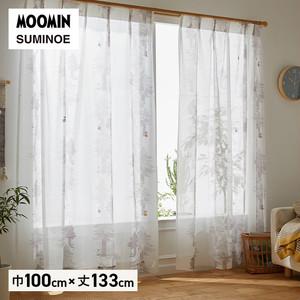 カーテン 既製サイズ スミノエ MOOMIN プート 巾100×丈133cm 1枚入