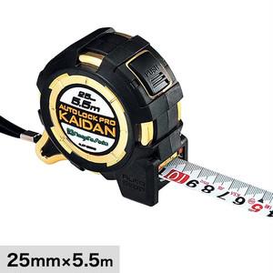計測道具 オートロックPROKAIDAN 長さ5.5m テープ幅25mm ALCP-2555KD