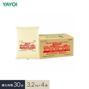 合成樹脂系下塗・上塗両用パテ ワイドスーパー 30 3.2kg×4袋 276-211