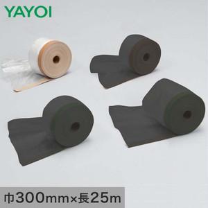 養生材 布テープ付ポリエチレン 茶 316-371