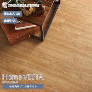 住宅向けビニル床タイル(床暖OK 重ね貼り可)川島織物セルコン ホームベスタ ラフソーンオーク 150×914.4×3mm 24枚入