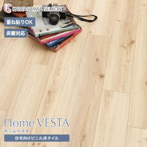 住宅向けビニル床タイル(床暖OK 重ね貼り可)川島織物セルコン ホームベスタ ノビーオーク VH3013 150×914.4×3mm 24枚入