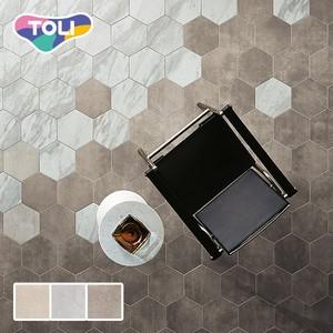 フロアタイル 塩ビタイル 東リ タイルコレクション ロイヤルストーン・ヘキサ ナチュラルストーン 六角形×3.0mm厚 64枚/ケース