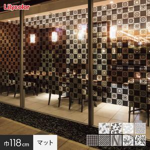 ガラスフィルム 窓の保護や目隠しに リリカラ Digital DECO kioi 巾118cm マットタイプ