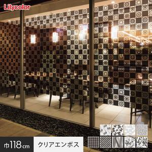 ガラスフィルム 窓の保護や目隠しに リリカラ Digital DECO kioi 巾118cm クリアエンボス