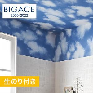 【のり付き壁紙】シンコール BIGACE 雲柄調 BA5386