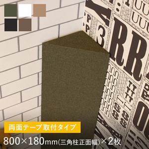 両面テープ取付タイプ 吸音パネル サウンドスフィア NEXTseries POST 800×180mm(三角柱:正面幅)2枚入