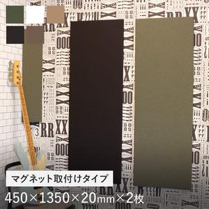 マグネット取付タイプ 吸音パネル サウンドスフィア NEXTseries TILE1350 450×1350×20mm 2枚入