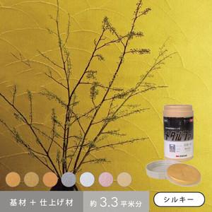 四国化成 けいそうモダンコート内装シルキー 基材+メタルファスのセット(約3.3平米分)