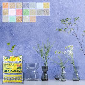 塗る繊維壁紙 シルクプラスター アートデザイン 淡色系 1kg/袋