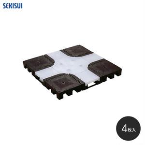 積水OAフロア MPP-50 樹脂製置敷き溝配線タイプ4枚入(1平米)500×500×H50mm