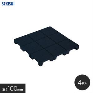 積水OAフロア PPN100 樹脂製置敷きタイプ4枚入(1平米)500×500×H100mm
