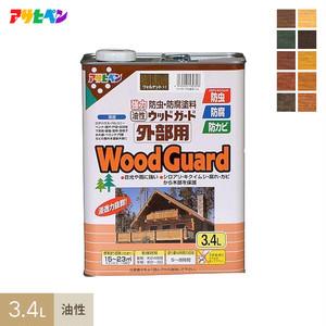 強力に防虫・防カビ・防腐するのに最適!油性ウッドガード外部用 3.4L