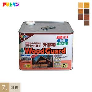 強力に防虫・防カビ・防腐するのに最適!油性ウッドガード外部用 7L