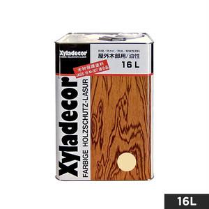 屋外UVカット白木用・木材保護塗料(油性) キシラデコール やすらぎ 16L
