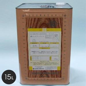 【大阪塗料】酒精ニス 濃口シケラックニス 15L 黄褐色透明