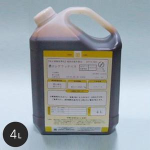 【大阪塗料】酒精ニス 濃口シケラックニス 4L 黄褐色透明