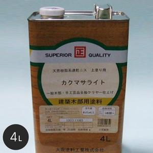 【大阪塗料】カクマサライト 4L 黄褐色透明