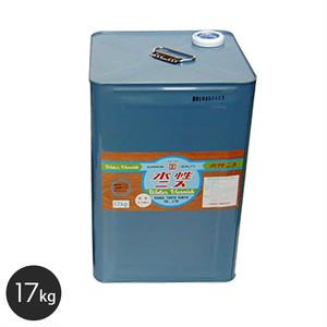 【大阪塗料】アクリル樹脂塗料 水性ニス(透明) 17kg 乳白色