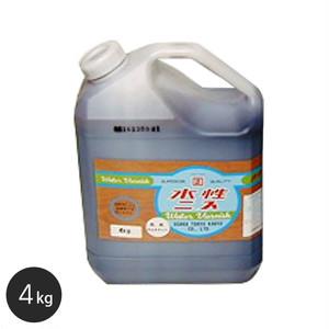 【大阪塗料】アクリル樹脂塗料 水性ニス(透明) 4kg 乳白色
