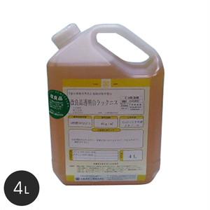 【大阪塗料】酒精ニス (改良)透明白ラックニス 4L 黄透明