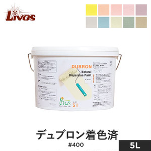 リボス 自然健康塗料 室内・壁用水性塗料(エマルション) 漆喰調 デュブロン 着色済 #400 5L