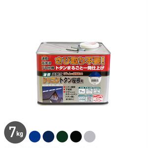 サビの上からそのまま塗れて作業性にも優れている!高耐久シリコントタン屋根用 アドバンスドカラー 7kg