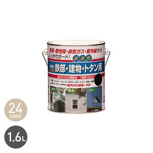 塩害・酸性雨・排気ガスなどからしっかりガードする多用途塗料!鉄部・建物・トタン用 1.6L