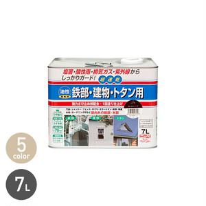 塩害・酸性雨・排気ガスなどからしっかりガードする多用途塗料!鉄部・建物・トタン用 7L
