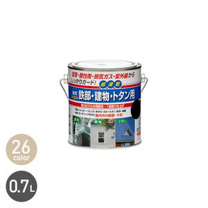塩害・酸性雨・排気ガスなどからしっかりガードする多用途塗料!鉄部・建物・トタン用 0.7L