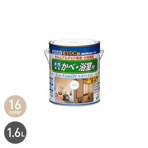 ビニール壁紙にも塗れる 水性エコファミリー 1.6L