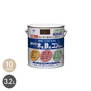 アクリルウレタンの高耐久多用途塗料 水性つやありEXE 3.2L