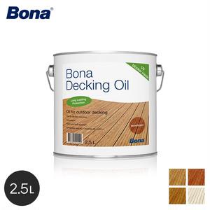 Bona 亜麻仁油ベースの屋外木部用浸透性オイル デッキオイル クリア 2.5L