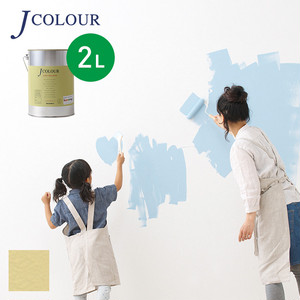 壁紙の上から塗れる人にやさしい水性ペイントJカラー 2L 象牙色(ぞうげいろ) JY-3a