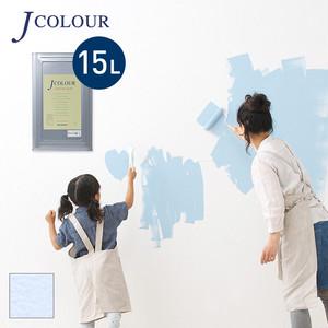 壁紙の上から塗れる人にやさしい水性ペイントJカラー 15L アイボリーラベンダー MP-4d