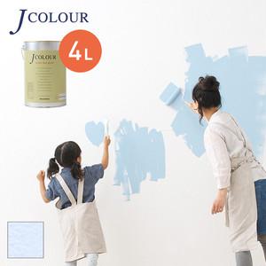 壁紙の上から塗れる人にやさしい水性ペイントJカラー 4L アイボリーラベンダー MP-4d