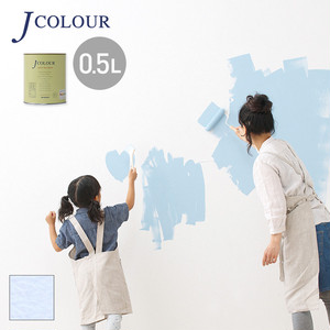 壁紙の上から塗れる人にやさしい水性ペイントJカラー 0.5L アイボリーラベンダー MP-4d