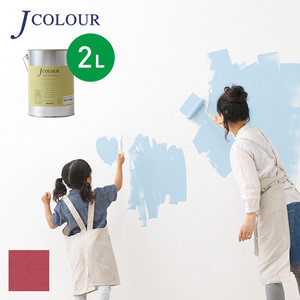 壁紙の上から塗れる人にやさしい水性ペイントJカラー 2L ハバナローズ Vl-1d