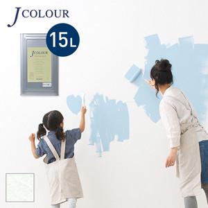 壁紙の上から塗れる人にやさしい水性ペイントJカラー 15L スノウホワイト WH-1a