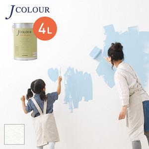壁紙の上から塗れる人にやさしい水性ペイントJカラー 4L スノウホワイト WH-1a