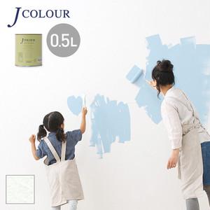 壁紙の上から塗れる人にやさしい水性ペイントJカラー 0.5L スノウホワイト WH-1a