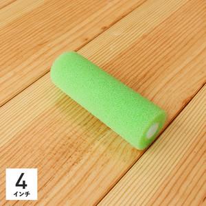 塗料用ローラー スモールローラー砂骨材用 細目グリーン 4インチ