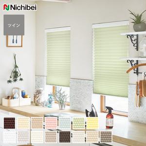 【制電】ニチベイ プリーツスクリーン ポポラ2 ツインスタイル ポポラファン